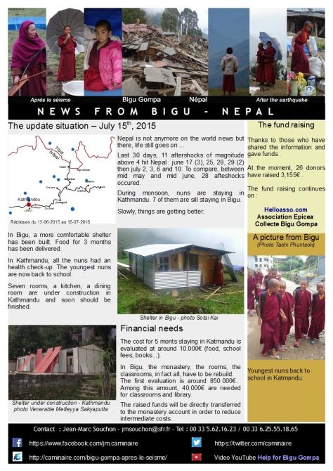 News from Bigu-july 2015